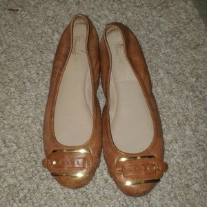 Franco sarto artist ballet flat leather shoes 9.5